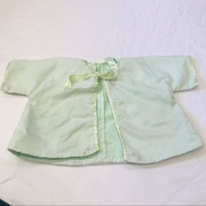 Vintage mint green baby jacket